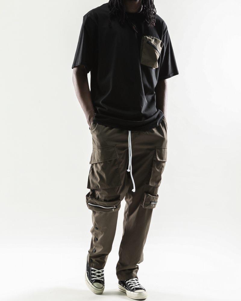 《2色》ビッグポケットサイドスナップカーゴジョガーパンツの画像6